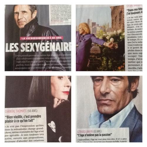 Les sexygénaires: dossier du Nouvel Observateur Nov. 2013